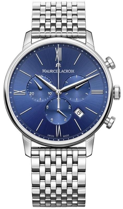 Maurice Lacroix Eliros Chronograph Blue Dial on Steel Bracelet EL1098-SS002-410-2