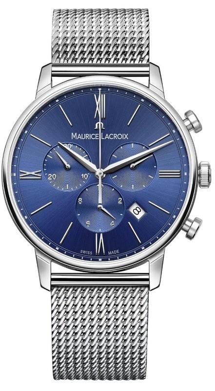 Maurice Lacroix Eliros Chronograph Blue Dial on Steel Bracelet EL1098-SS002-410-1