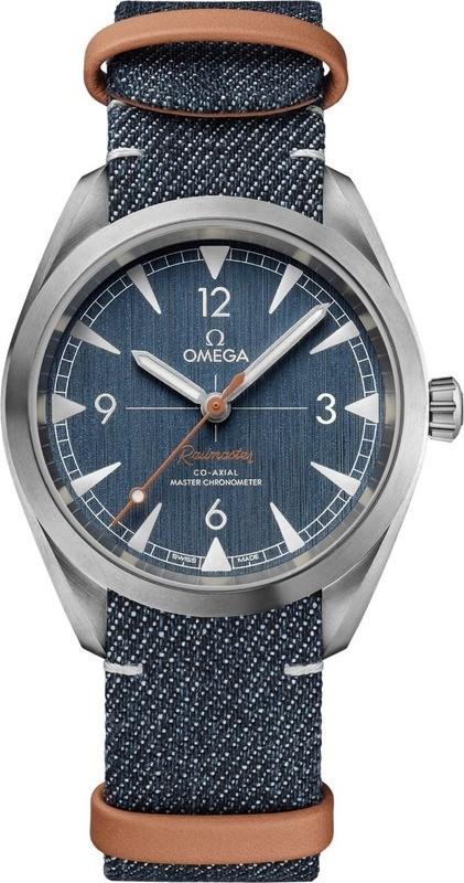 Omega Railmaster Denim Co-Axial Master Chronometer NATO Strap