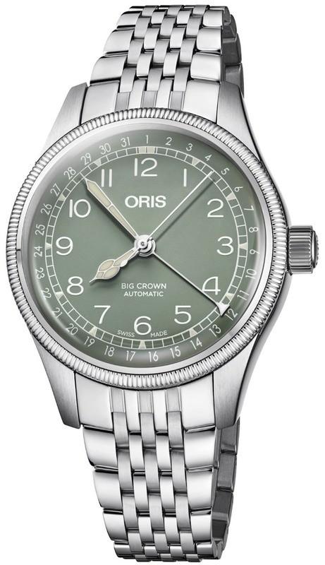 Oris Big Crown Pointer Date Green Dial Bracelet