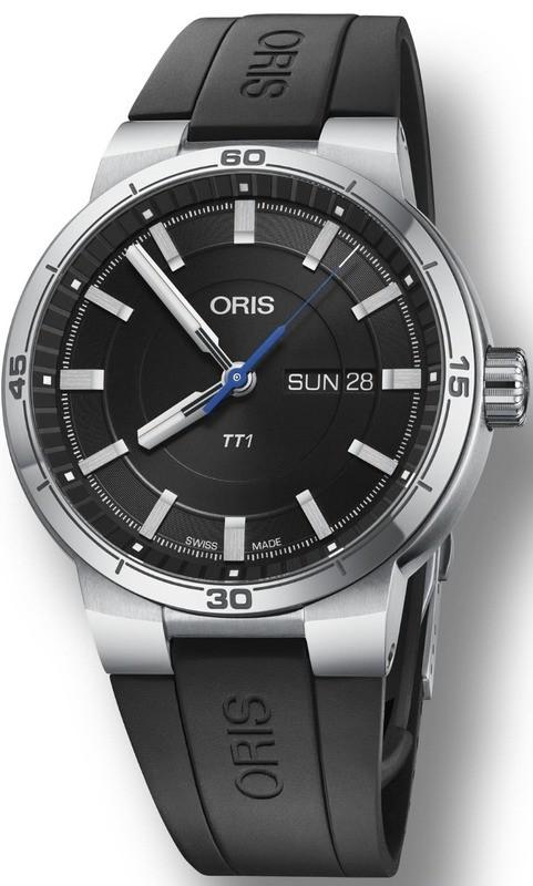 Oris TT1 Day Date Black Dial