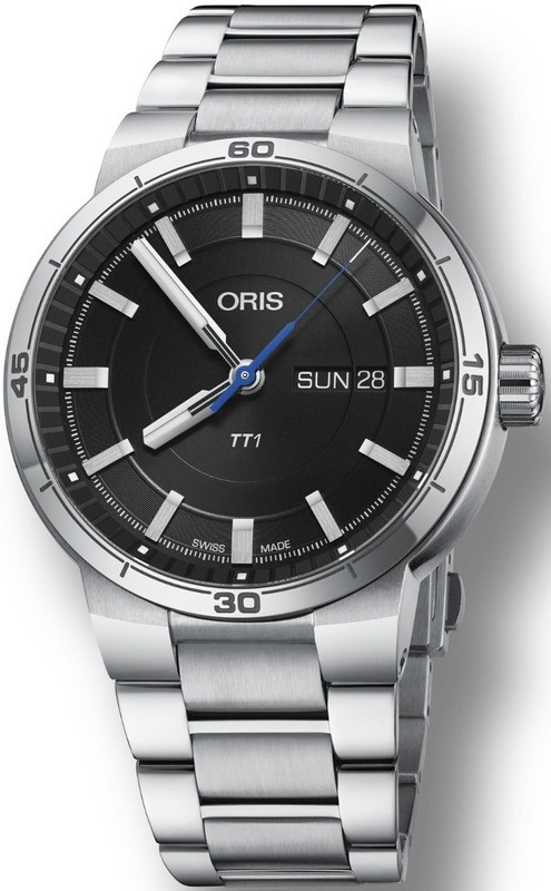 Oris TT1 Day Date Black Dial on Bracelet