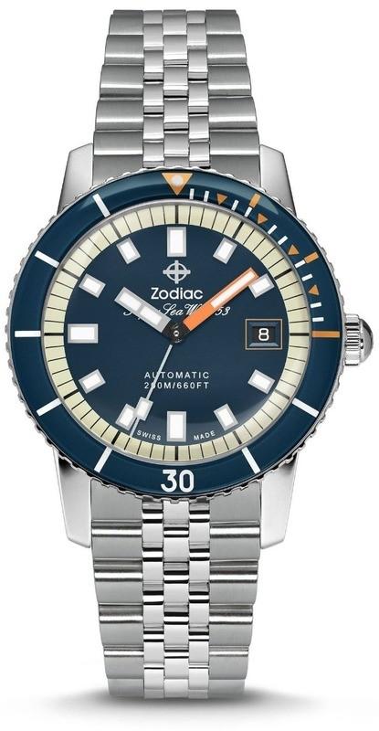 Zodiac Super Sea Wolf Blue Dial