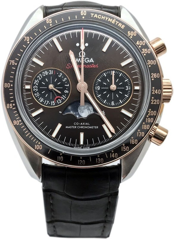Omega Speedmaster Moonwatch Moonphase Steel & Sedna Gold