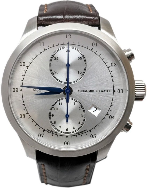 Schaumburg Watch Chronograph No 1 Silver Dial
