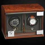 Underwood Watch Winder Double Module Unit Briarwood