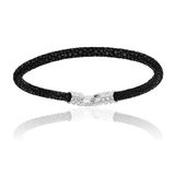 Double Bone Single Stingray Black Bracelet Unisex