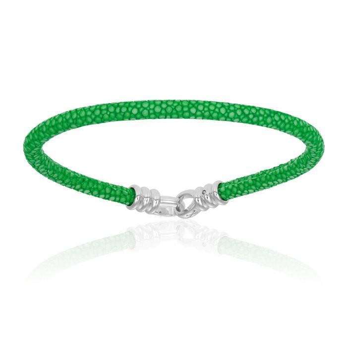 Double Bone Single Stingray Green Bracelet Unisex