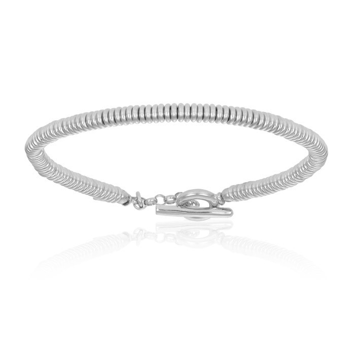 Double Bone White Gold Beads Bracelet Unisex