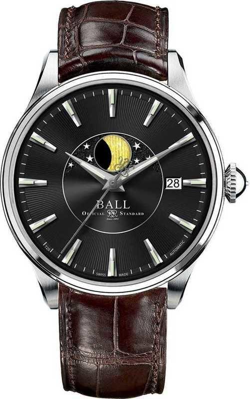 Ball Watch Trainmaster Moon Phase NM3082D-LLFJ-BK