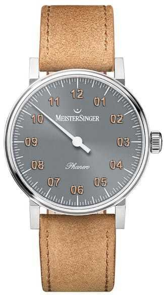 MeisterSinger Phanero Sunburst Anthracite with Golden Appliques PH307G