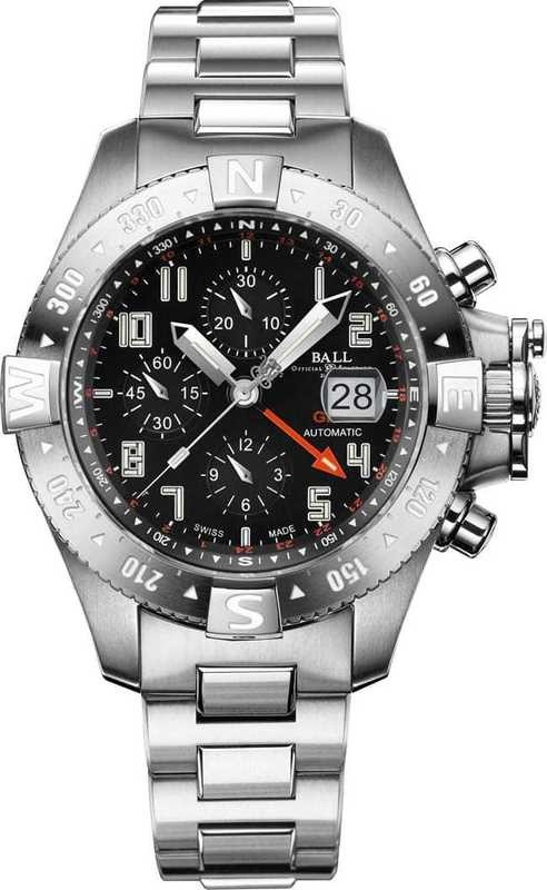 Ball Watch Engineer Hydrocarbon Spacemaster Orbital II Chronograph Watch DC3036C-SA-BK
