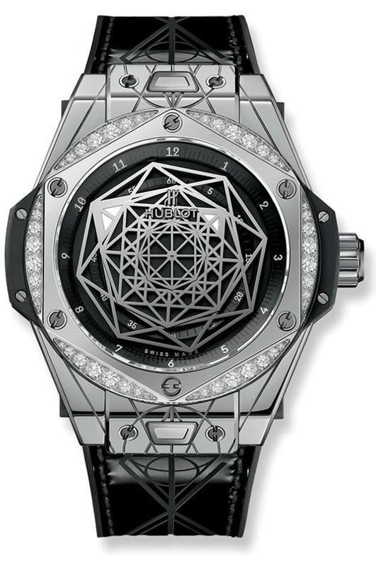 Hublot Big Bang One Click Sang Blue Steel Diamonds 465.SS.1117.VR.1204.MXM17