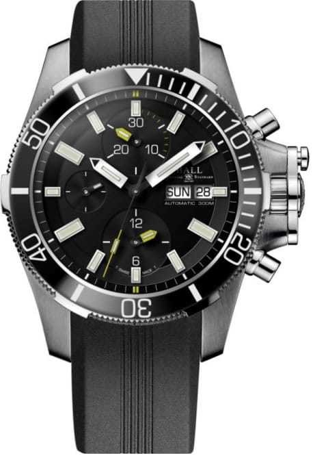 Ball Engineer Hydrocarbon Submarine Warfare Ceramic Chronograph on Strap