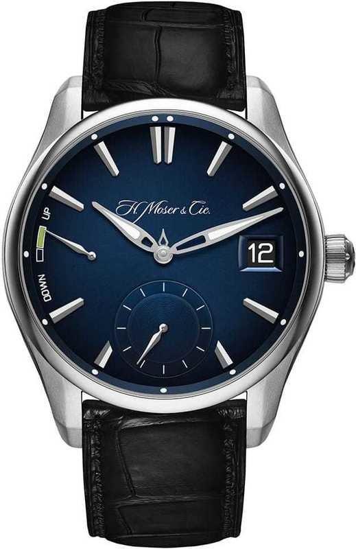 H. Moser & Cie Pioneer Perpetual Calendar Steel Midnight Blue Fumé Dial