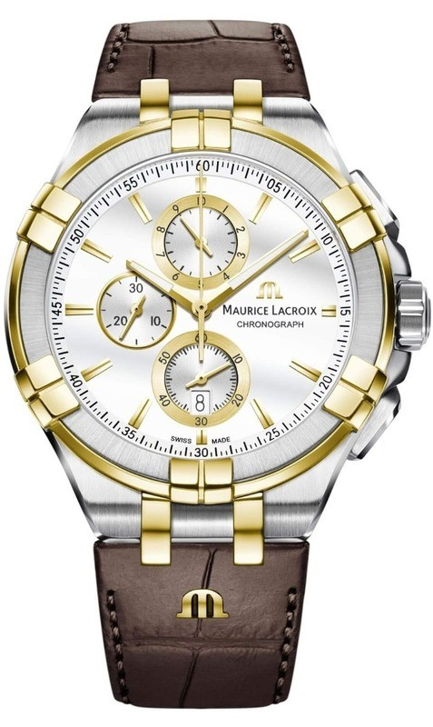 Maurice Lacroix Aikon Chronograph Steel Yellow Gold AI1018-PVY11-132-1