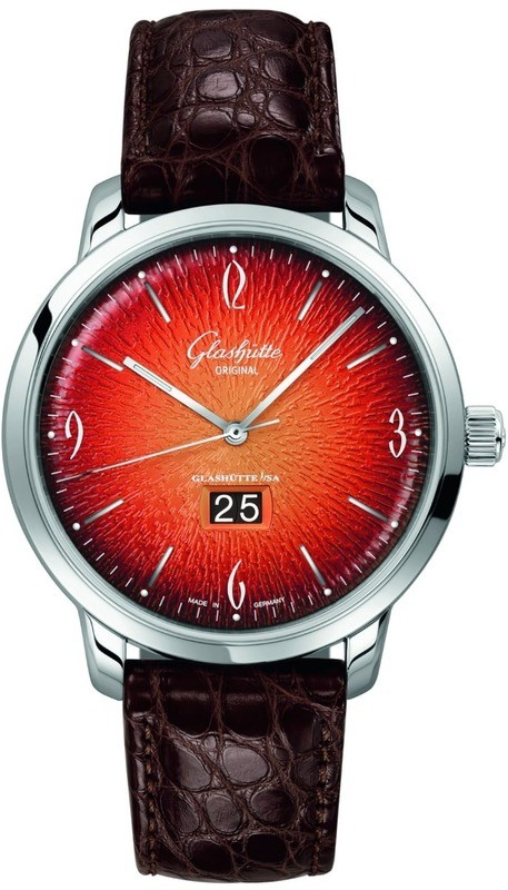 Glashütte Original Sixties Panorama Date Fiery Orange