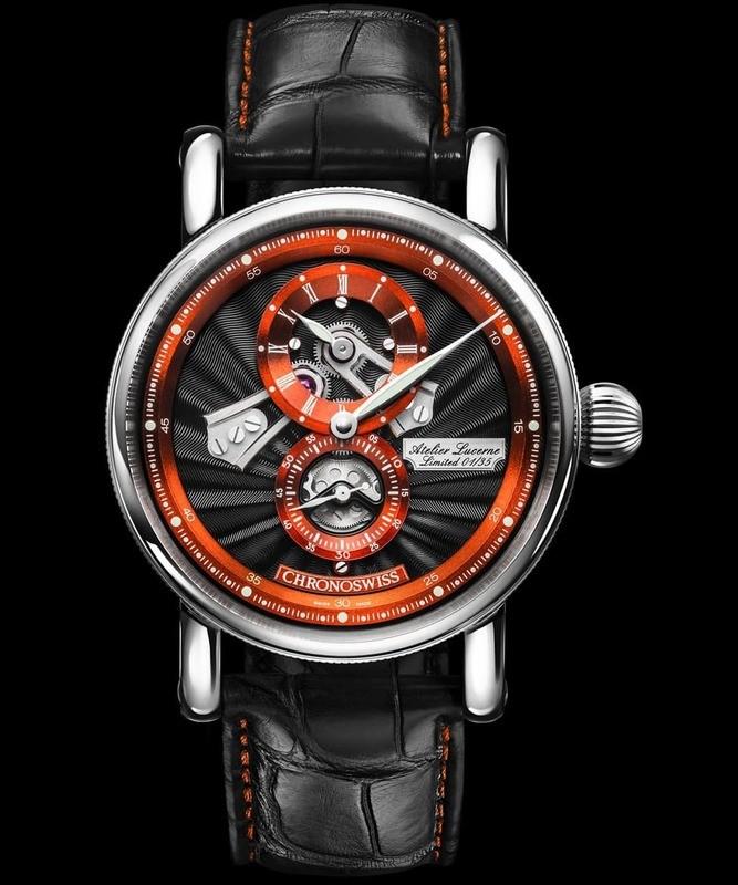 Chronoswiss Flying Regulator Open Gear Anniversary Edition Orange