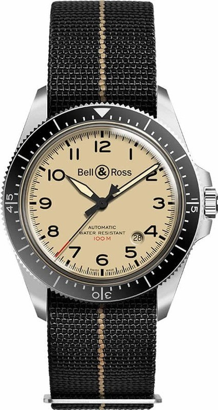 Bell & Ross Br V2-92 Military Beige on Strap
