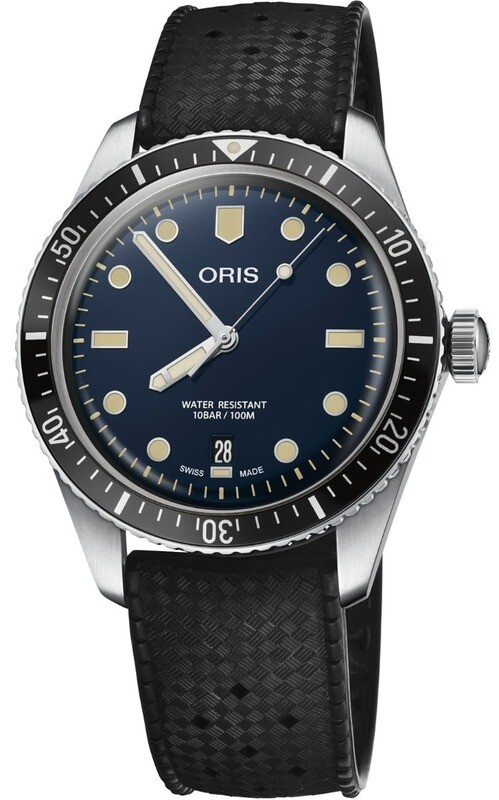Oris Divers Sixty Five Blue on Rubber Strap