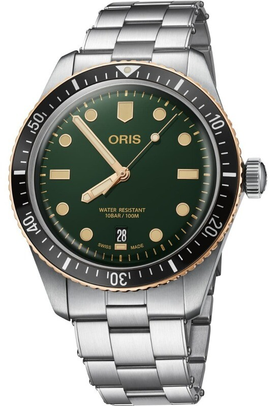 Oris Divers Sixty Five Green Dial on Bracelet