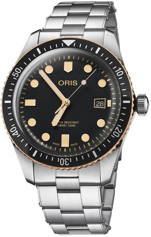 Oris Divers Sixty-Five Black Dial on Bracelet