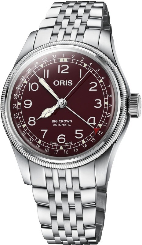 Oris Big Crown Pointer Date Red on Bracelet