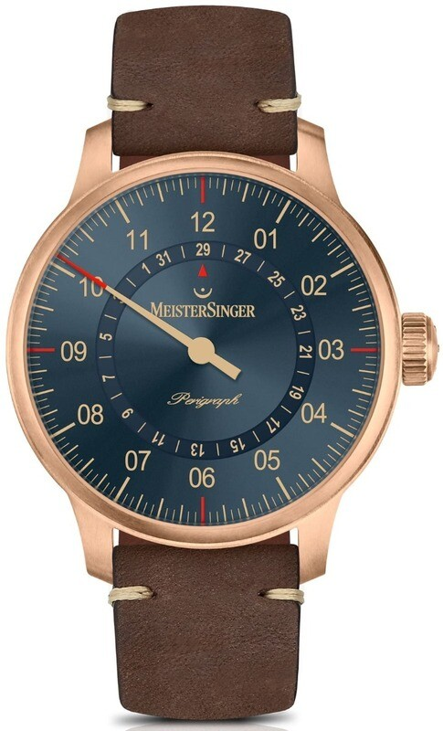 MeisterSinger Perigraph Bronze Blue Dial
