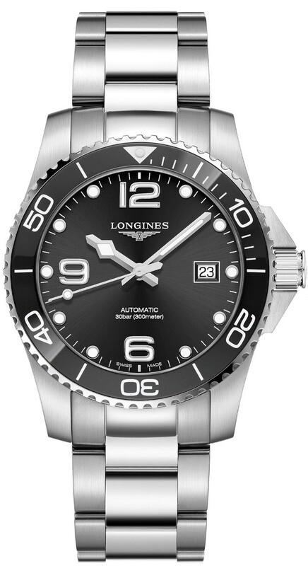 Longines Hydroconquest Black Dial on Bracelet