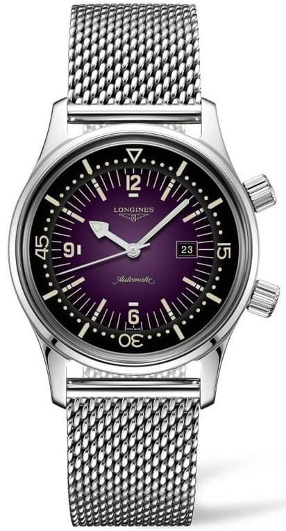 Longines Legend Diver Watch Purple Dial