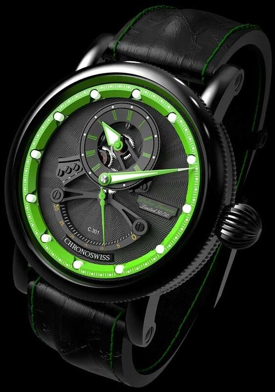 Chronoswiss Flying Grand Regulator Open Gear ReSec Green