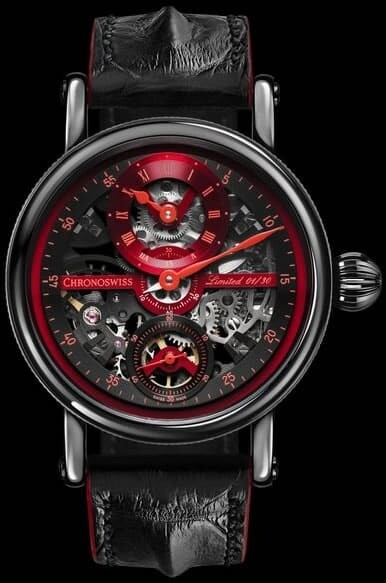 Chronoswiss Flying Grand Regulator Skeleton Red Black