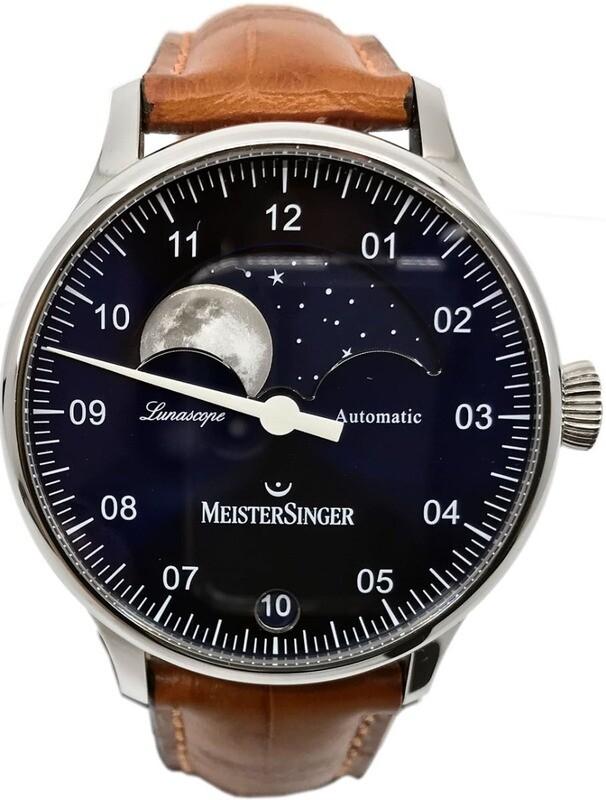 MeisterSinger Lunascope Blue Dial LS908