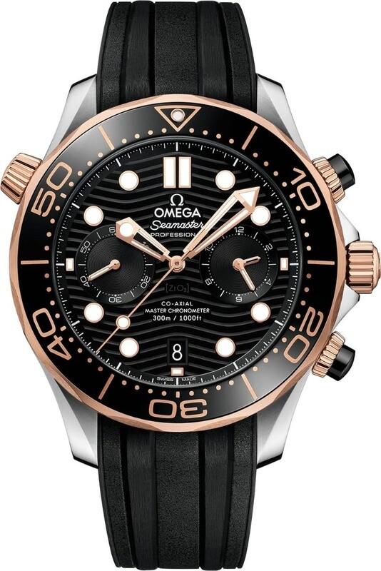 Omega Seamaster Diver 300m Master Chronometer Chronometer Steel and Gold