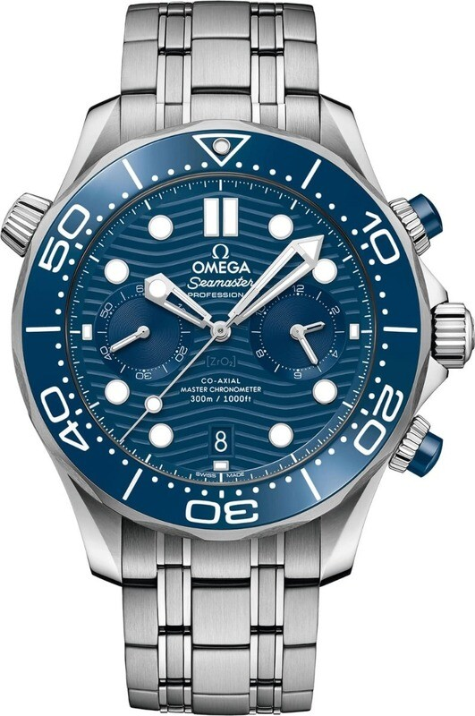 Omega Seamaster Diver 300m Master Chronometer Chronograph 44mm Blue Dial