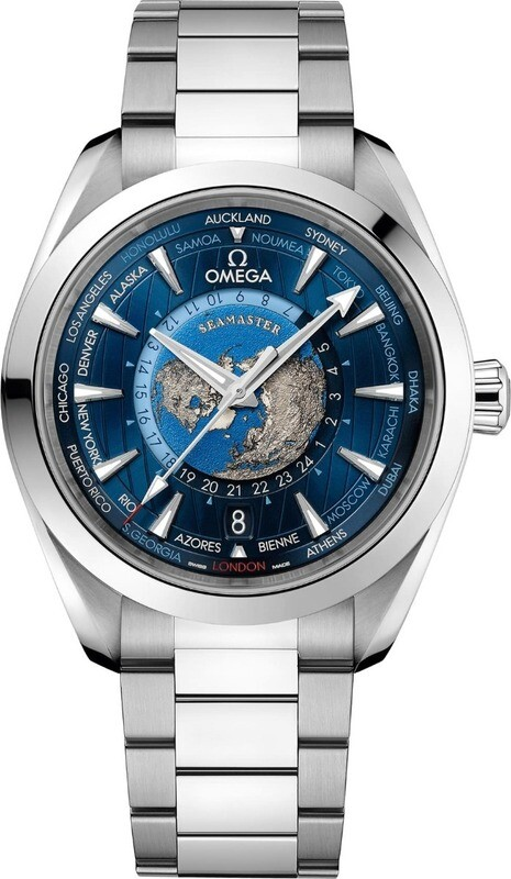 Omega Seamaster Aqua Terra 150m GMT World Timer 43mm on Bracelet