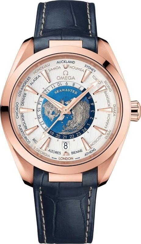 Omega Seamaster Aquaterra 150m Master Chronometer GMT Worldtimer 43mm Gold