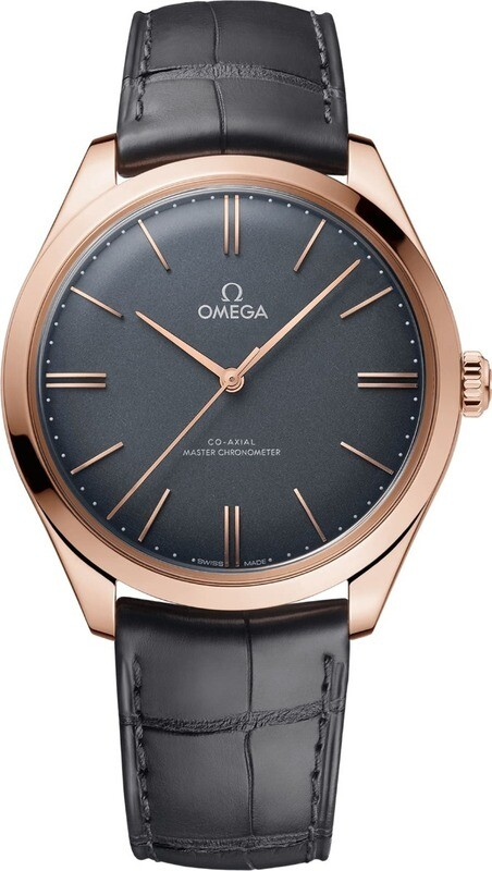 Omega De Ville Tresor Grey Dial Rose Gold