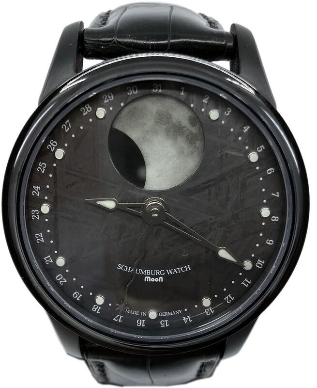 Schaumburg Watch Moon Meteorite Dial