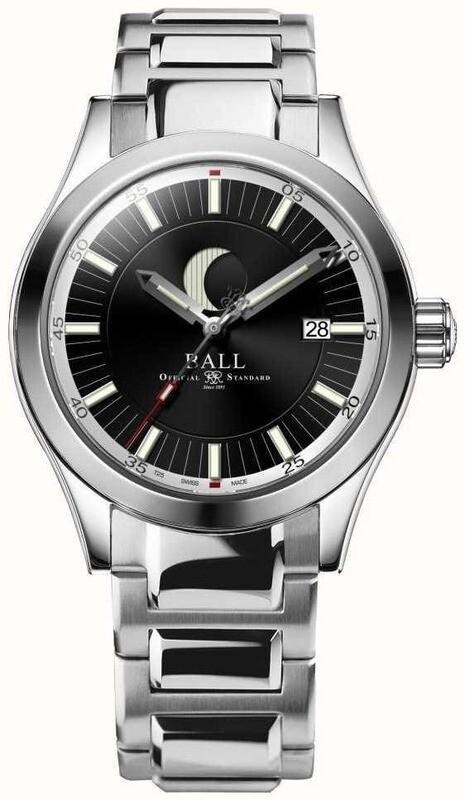 Ball Engineer II Moon Phase Black Dial on Bracelet