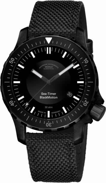 Mühle Glasütte Sea-Timer BlackMotion
