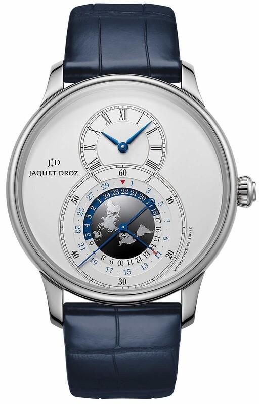 Jaquet Droz Grande Dual Time Silver