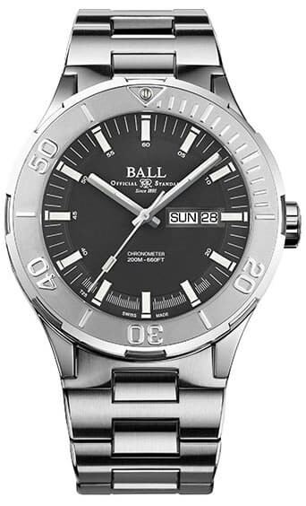 Ball Roadmaster Skipper Day Date Grey 40mm DM3030B-S7CJ-GY