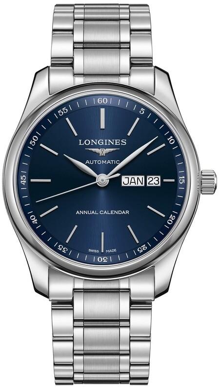 Longines Master Blue L2.910.4.92.6 on Bracelet