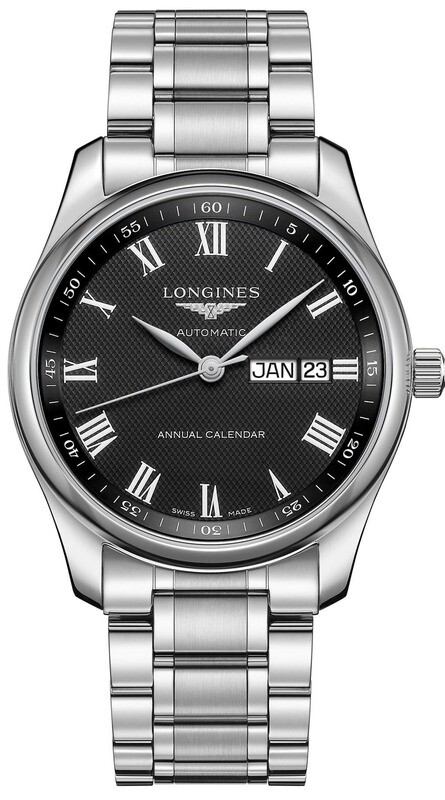 Longines Master Black L2.910.4.51.6 on Bracelet