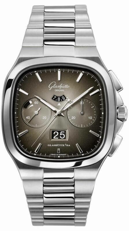 Glashütte Original Seventies Chronograph Panorama Date Gray Limited Edition on Bracelet