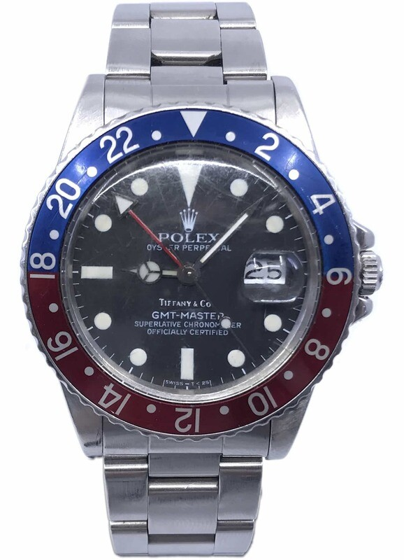 Rolex 1982 GMT 16750 Double Stamped Tiffany & Co Dial