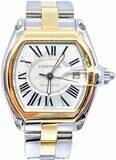Cartier Roadster Two-Tone 18k Yellow W62031Y4