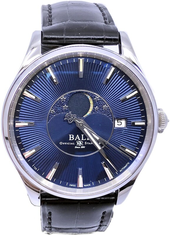 Ball Watch Trainmaster Moonphases Blue Dial NM3082D