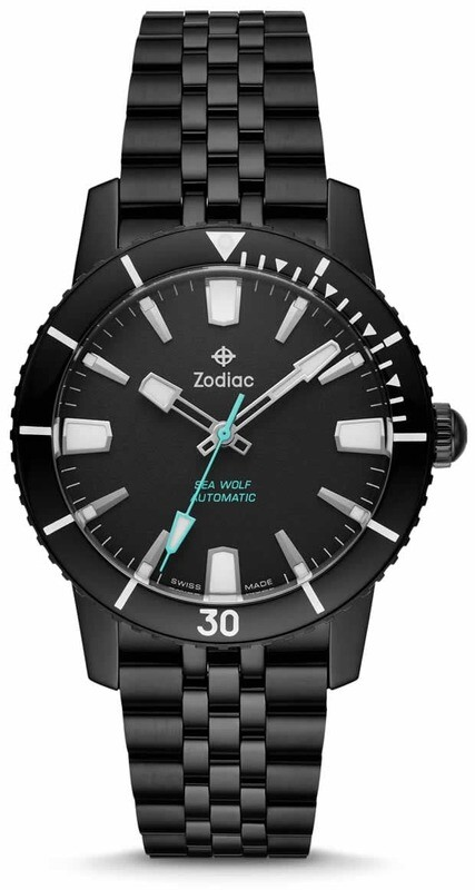 Zodiac Super Sea Wolf 53 Compression Automatic Black